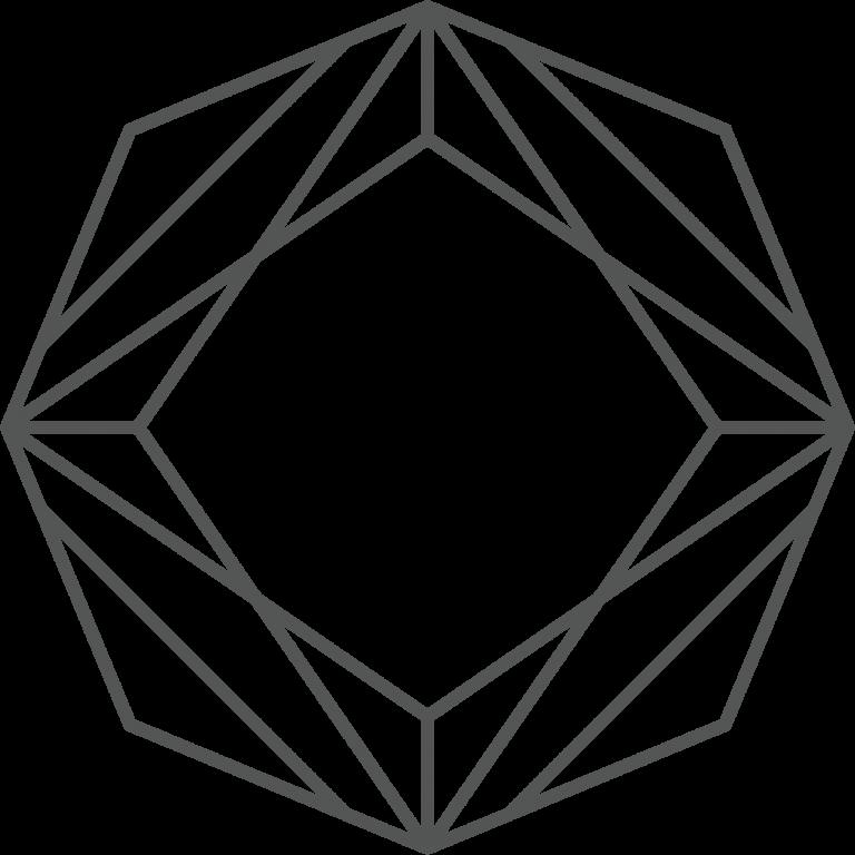 Logo di Arianna Reguzzoni Life Coach colore grigio scuro. Rappresenta la sezione frontale di un Dorje, o Varja, un oggetto tibetano che simboleggia la distruzione dell'inconsapevolezza.
